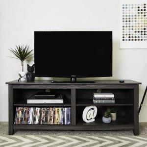 $129(原价$236.45)Walker Edison 高级木质双层电视柜特卖 耐用材质