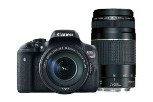 $509Canon EOS Rebel T6i w/ EF-S 18-55mm and 55-250mm IS Lens Refurbidshed