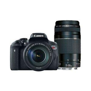 $509.99(原价$959.98)Canon EOS Rebel T6i套装(EF-S 18-55mm+55-250mm)官方翻新