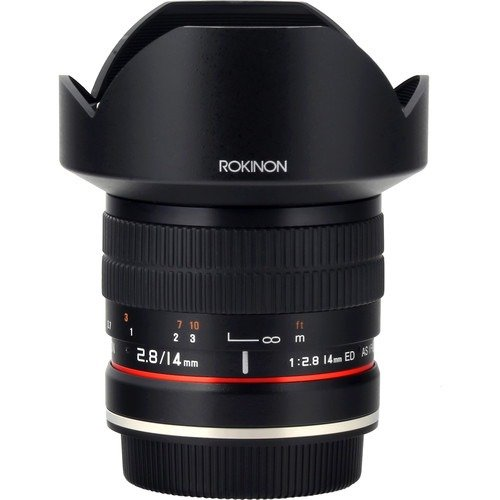 Rokinon 14mm f/2.8 IF ED UMC 镜头 Canon EF AE芯片兼容