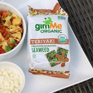 $9.72gimMe Snacks Organic Roasted Seaweed Teriyaki 17oz Pack of 20