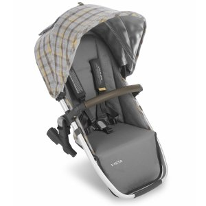 UPPAbaby2019 VISTA RumbleSeat - Spenser (Grey & Yellow Tartan/Silver/Moss Leather)