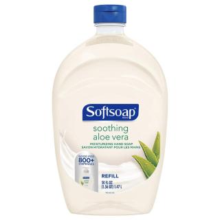 $3.77(原价$5.97)史低价:Softsoap 芦荟抗菌洗手液超大瓶补充装 1.47L