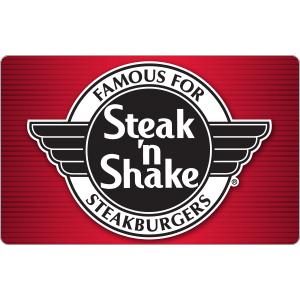 $40Steak 'n Shake $50 Gift Card