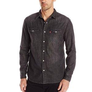 $21.99 (原价$43.99)所有尺码都打折Levi's 精选男士牛仔衬衣热卖 趁免邮抓紧买买买