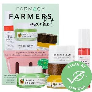 $58+送雅诗兰黛小棕瓶中样Farmacy 纯天然蜂蜜农场护肤4件套 种草尝鲜超划算