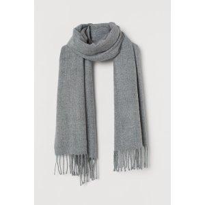 H&M灰色围巾