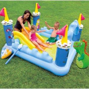 $33.91夏天好伙伴:Intex 时尚户外儿童充气戏水城堡 73