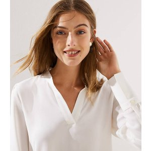 Split Neck Blouse | LOFT
