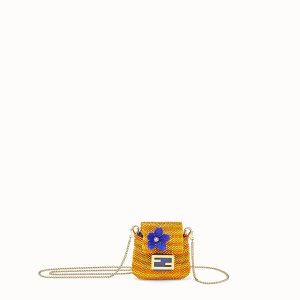 FendiCharm with yellow beads - PICO BAGUETTE CHARM | Fendi | Fendi Online Store