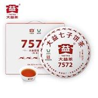 TAETEA 大益经典7572大饼普洱熟茶