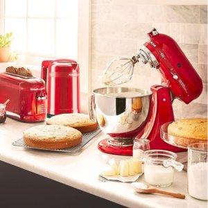 $179(原价$338)必入限量款KitchenAid 100周年纪念套装 女王之心水壶+面包机套装