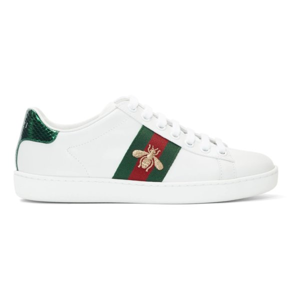 White New Ace 小蜜蜂平底鞋