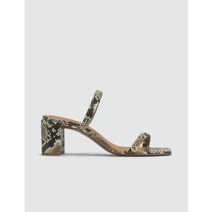 by FARTanya Snake Print Leather Sandals