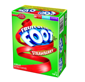 $1.67(原价$3.29)香甜草莓味!Betty Crocker Fruit by The Foot天然维生素果汁卷