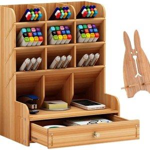Marbrasse Wooden Desk Organizer,