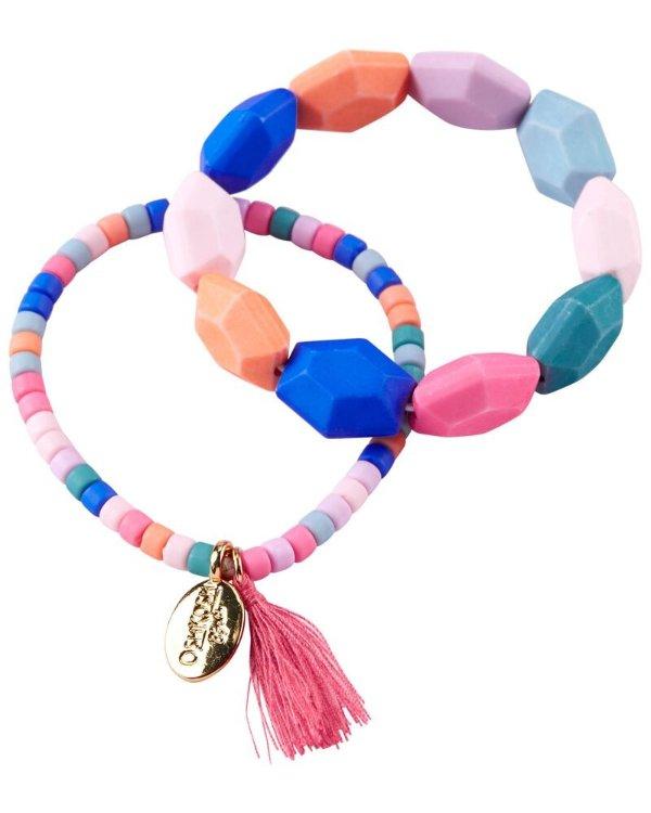 彩珠手链2条