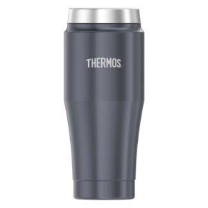 Thermos保温 保冷烟灰色不锈钢便携杯