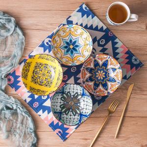 4个仅€25 餐桌上的活波气息vancasso 瓷碗套装 彩色浮雕设计 完美的麦片/汤面碗