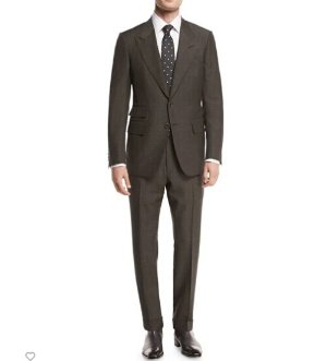 TOM FORD Shelton Base Mohair Peak-Lapel Two-Piece Suit