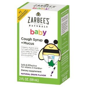 Children's Zarbee's Naturals Baby Cough Syrup & Mucus Reducer - Grape - 2 fl oz : Target
