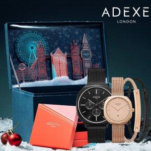 低至5折+额外8折 折扣区也参加黑五独家:ADEXE London 小众牌简约Ins风手表热卖