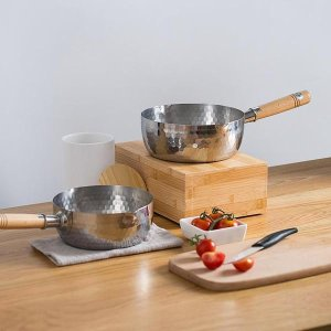 As low as $30Dealmoon Exclusive: Lifease Stainless Steel Cooking Pot With Wooden Handle