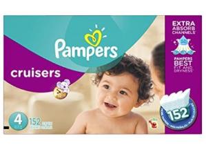立减$3, 低至$28.8包邮(原价$40.4)Pampers Cruisers 婴儿纸尿裤超大经济包 3 - 7号