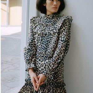 低至3折Ganni 服饰热卖 气质动物纹连衣裙 多款不过百