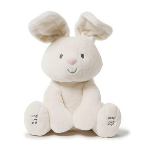 Amazon Baby GUND Flora The Bunny Animated Plush Stuffed Animal Toy, Cream, 12
