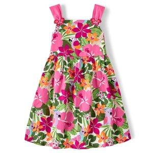 Gymboree热带花卉连衣裙
