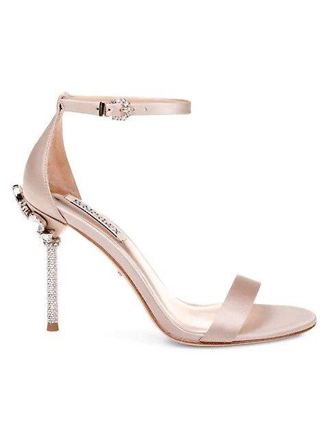Vicia绸缎高跟鞋