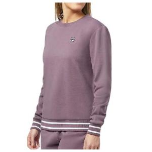 $29.99(原价$80)Fila Terry 女款圆领卫衣 S、M码 舒适慵懒烟紫配色