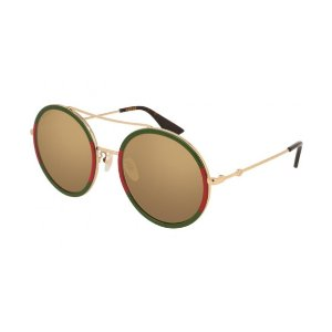 Gucci晒货小姐姐同款~ 超经典复古红绿圆墨镜