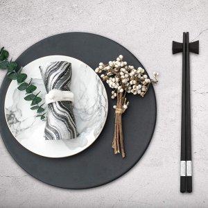 Hiware 10-Pairs Reusable Fiberglass Chopsticks