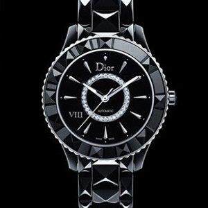 $3995(原价$18200)DIOR VIII 珍珠母贝镶钻陶瓷机械奢华女表 封面同款
