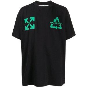 Off-Whitearrow print T-shirt