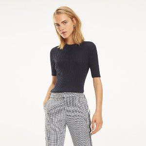 Tommy20% off $100 or 30% off $150+Short-Sleeve Ribbed Sweater | Tommy Hilfiger