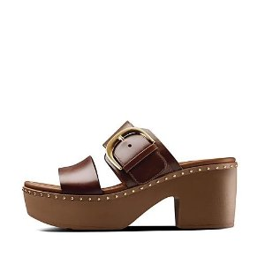 FitFlop巧克力色厚底凉鞋