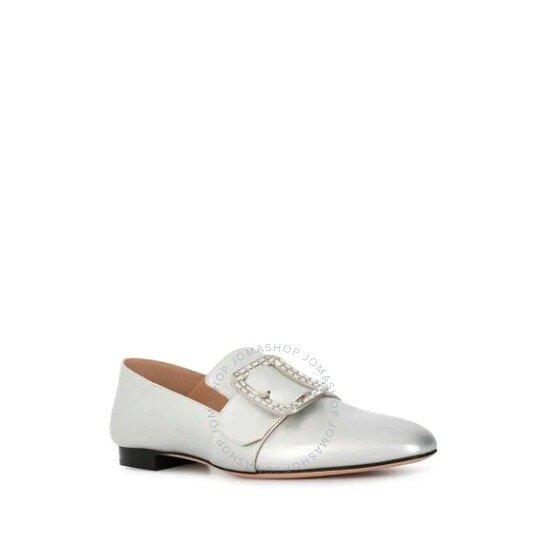 White Janelle Metallic 福乐鞋