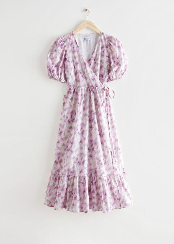 泡泡袖迷笛连衣裙