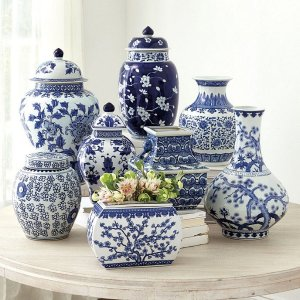 Chinoiserie 装饰花瓶