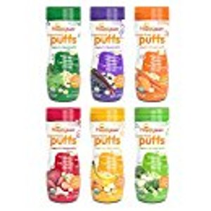 Happy Baby Organic Superfood Puffs, Variety Pack, 2.1 Ounce (Pack of 6): Amazon.com: Grocery & Gourmet Food