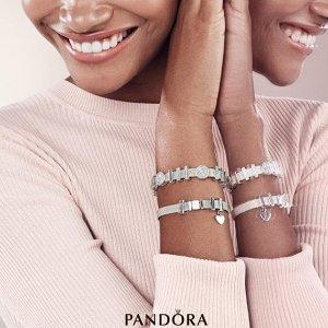 满£125送手链PANDORA 全场精美戒指折扣热卖 爱心款,皇冠款全都有