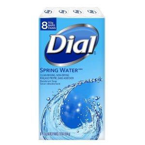$2.98 凑单必备史低价:Dial 居家必备泉水味香皂 8块装 113g 为健康囤货
