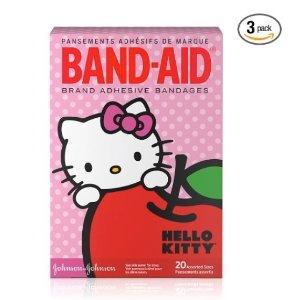 $6.90 (原价$10.16)Band-Aid Hello Kitty 超可爱透气创可贴 20片 x 3盒