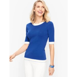 TalbotsCotton Blend Sweater - Tipped