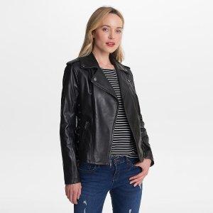 Wilsons LeatherAsymmetrical Zip Jacket w/ Side Lacing