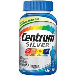 $11.65Centrum Silver Men Multivitamin Supplement Tablet, Vitamin D3 200 Count