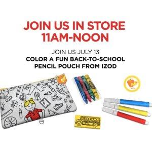 Free! Color A Pencil PouchKids Zone @ JCPenney